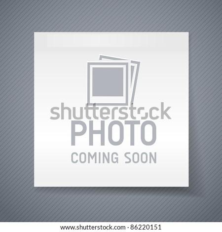 photo coming soon image, eps10