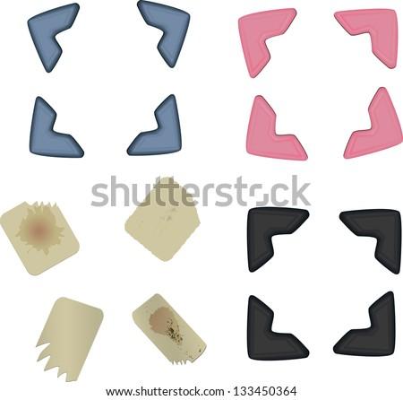 photo corners and adhesive