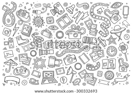 photo doodles hand drawn