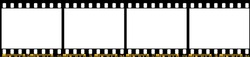 Photo film stripe, Vector Illustration.