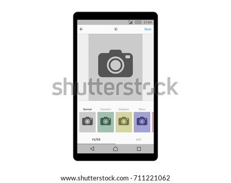 Photo filters interface app concept Vector
