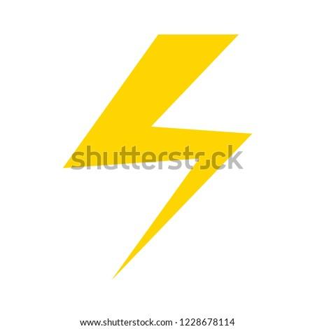 Photo flash sign icon. flash Lightning