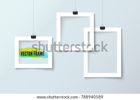 Shutterstock Photo frame collection realistic vector paper
