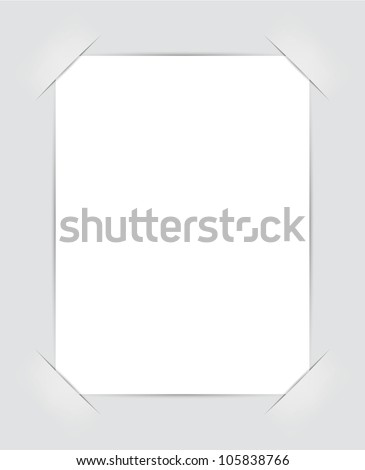 Photo frame corners. Illustration for design on gray background