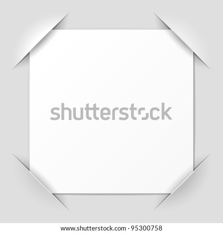 Photo frame corners. Vector. - stock vector