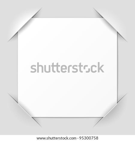 Photo frame corners. Vector.