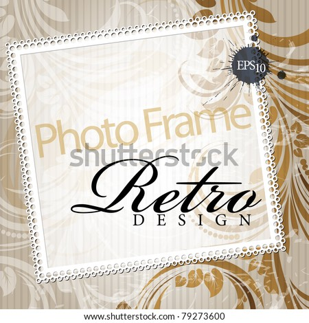 Photo Frame in retro style