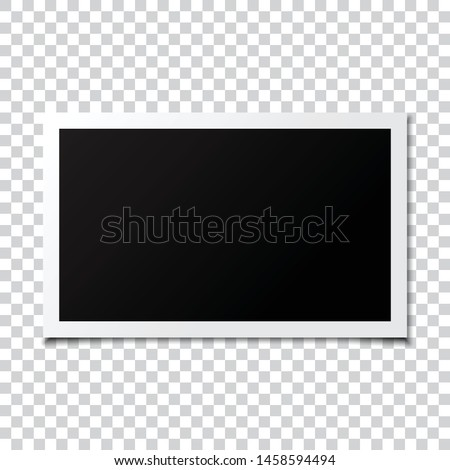 Photo frame mockup transparent background