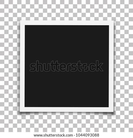 Photo frame mockup. Vector illustration.