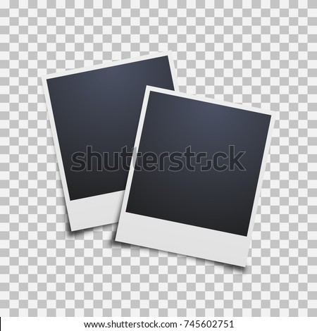 photo frame on a transparent background. Vector illustration. #745602751