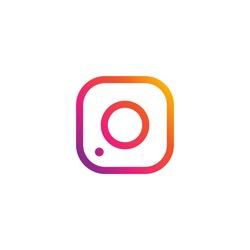 Photo frame on instagram style on a white background