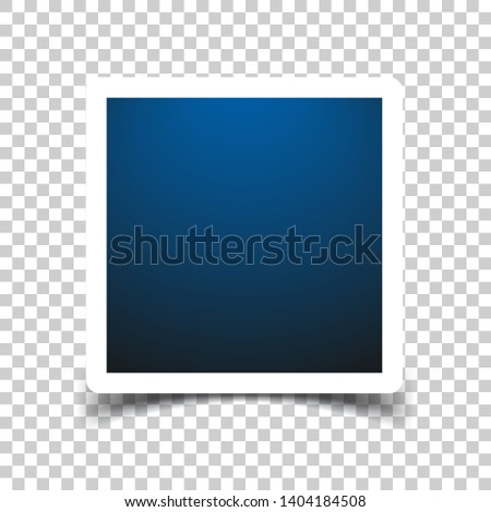 Photo frame sign icon in transparent style. Snapshot picture vector illustration on isolated background. Photography banner business concept.
