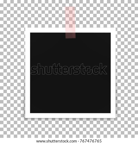 Photo frame template on a transparent background