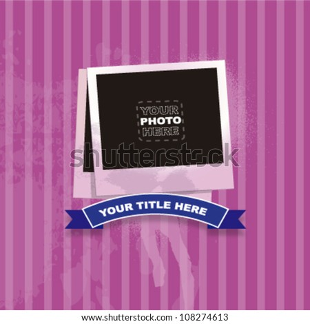 Photo frame to place your image. Vector design