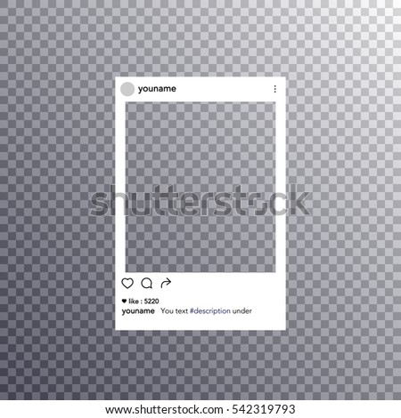 Photo frame vector illustration a transparent background