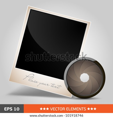 photo frame with aperture icon