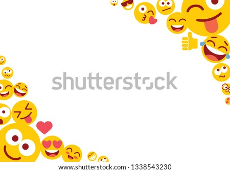 People with funny and happy emojis illustration - Download Free