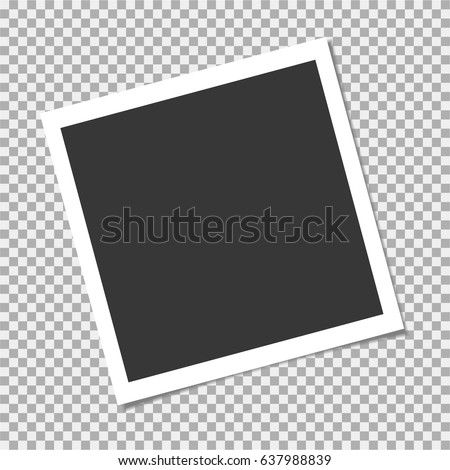 Photo frame with shadow on isolate background. Vector template for your trendy photo or image Stock foto ©