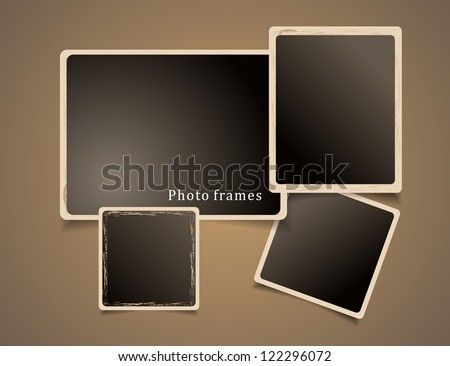 Photo Frames Design. Vintage Vector illustration. - stock vector