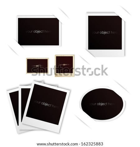 photo frames isolated vintage