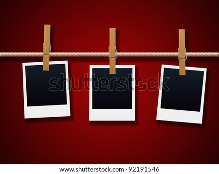 Photo Frames On Rope