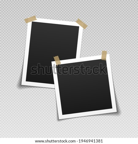 Photo frames with adhesive tape. Vintage empty photos frame with adhesive tapes. Сток-фото ©