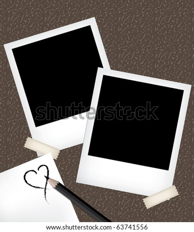 Photo frames with notepad