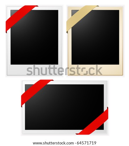 photo frames with ribbon