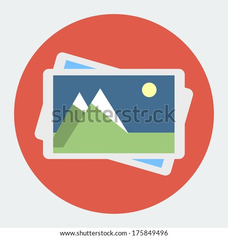 Photo Gallery Flat Icon - 175849496 : Shutterstock Gallery Icon Flat