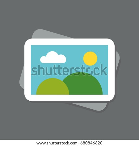 photo icon flat rock sky web