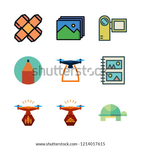 photo icon set vector set