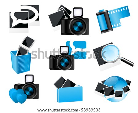 Photo icons,  vector illustration