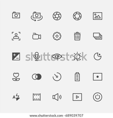 Photo icons vector illustration flat design