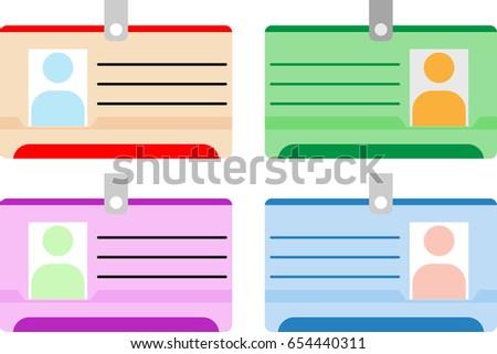 Photo Id Card, Identity Card Vector Illustration
