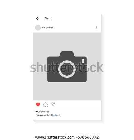 Photo interface frame with heart. Modern design. Vector illustration. EPS10.