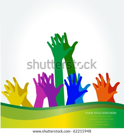 Photo of clapping hands. Vector illustration.