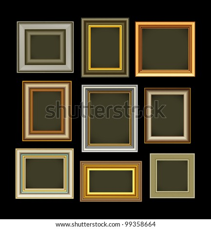 Photo picture frames vintage vector
