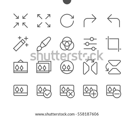 Photo Pixel Perfect Well-crafted Vector Thin Line Icons 48x48 Ready for 24x24 Grid for Web Graphics and Apps with Editable Stroke. Simple Minimal Pictogram Part 2-2
