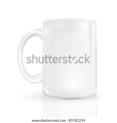 photo-realistic blank coffee mug close up