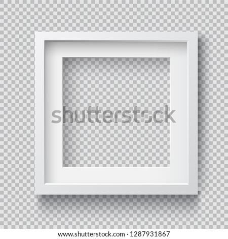 photo realistic square white