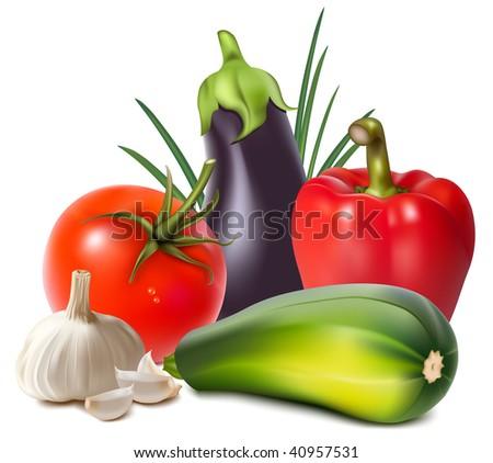 Несколько схем вышивки овощей.