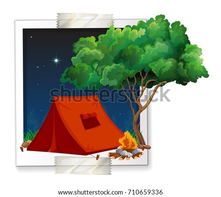 photo shot of tent at camping...