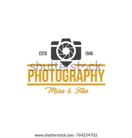 Photo studio labels, badges, logo, emblems, signs, set of retro camera vector templates isolated on white background. Photography branding design elements, business corporate identity templates
