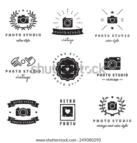 photo studio logo vintage