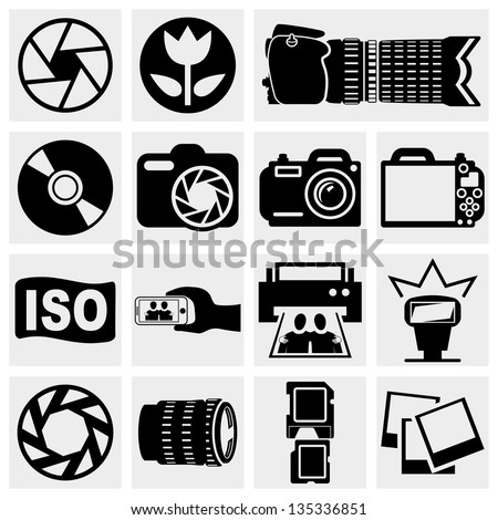 photo vector  icons set
