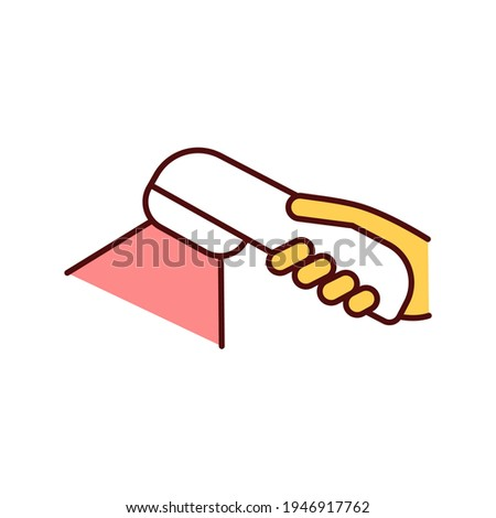 Photodynamic therapy RGB color icon. Involving light energy source. Cancerous, precancerous cells removing. Light-sensitive medicine. Photosensitizing chemical substance. Isolated vector illustration