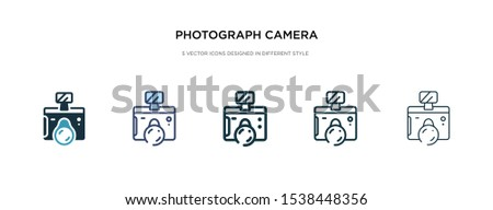 photograph camera icon in different style vector illustration. two colored and black photograph camera vector icons designed in filled, outline, line and stroke style can be used for web, mobile, ui