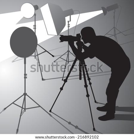 photographer at work in studio