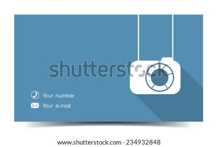 Photographer business card download vetores e grficos gratuitos photographer business card in a flat style reheart Image collections