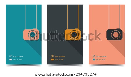 photographer business card in a